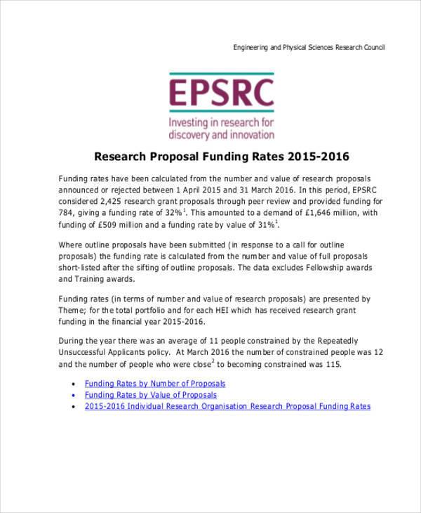 funding reseach proposal
