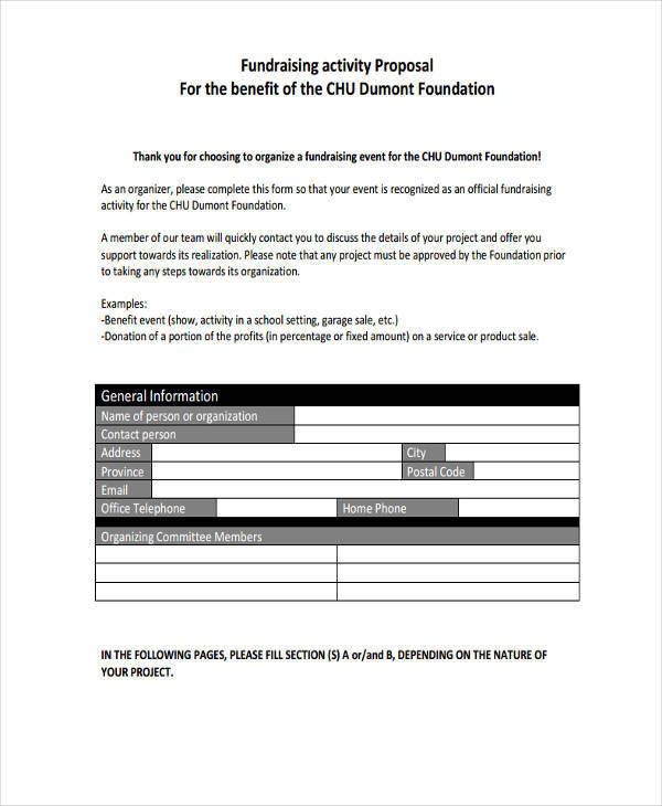 9  fundraising proposal templates