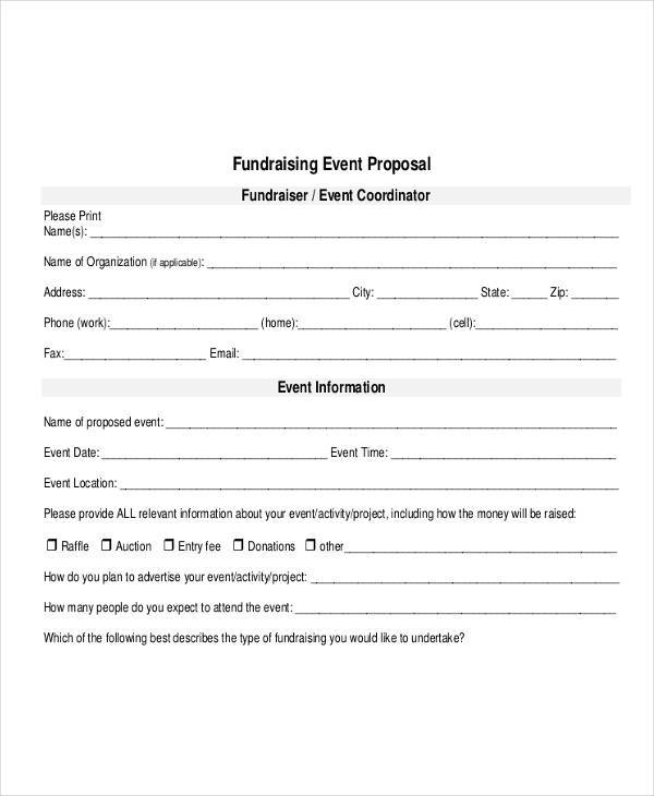 fundraising event proposal1