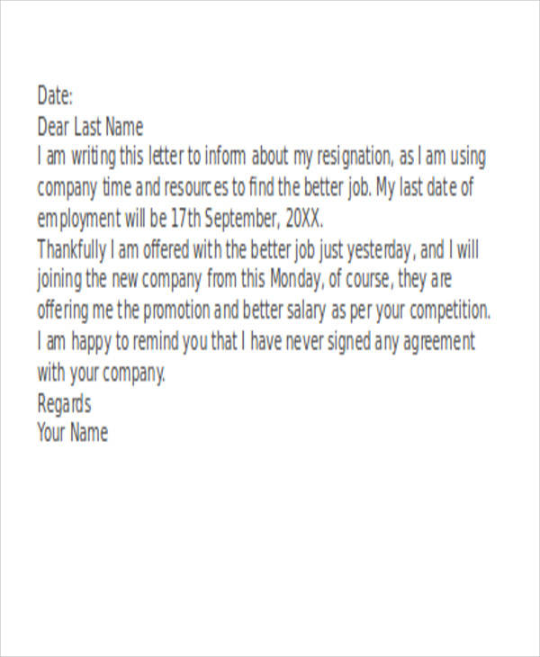 funny resignation letters sample resignation letter 6 examples in pdf word 12035 | Funny Resignation Letter Example1