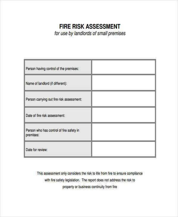 36 Risk Assessment Form Samples | Sample Templates