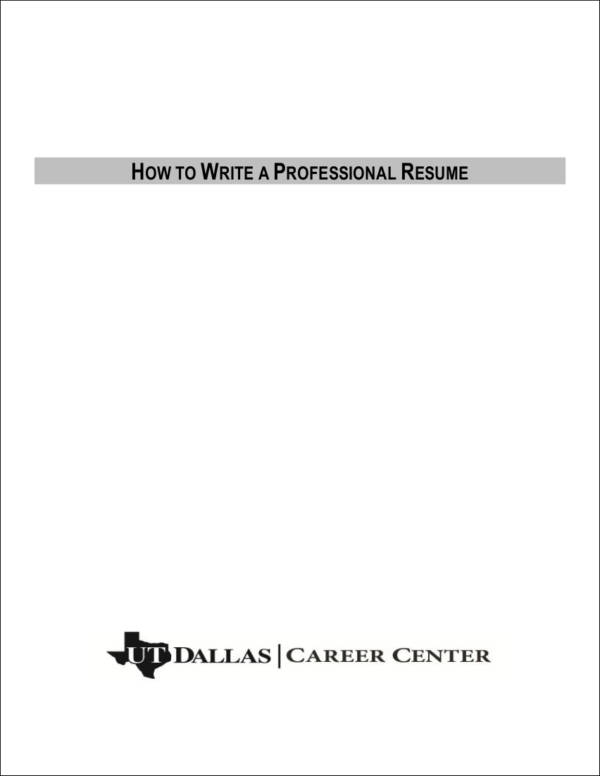 how to write a professional resume1