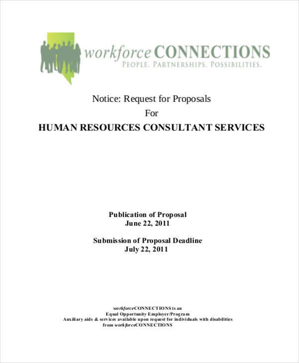 hr consultancy proposal