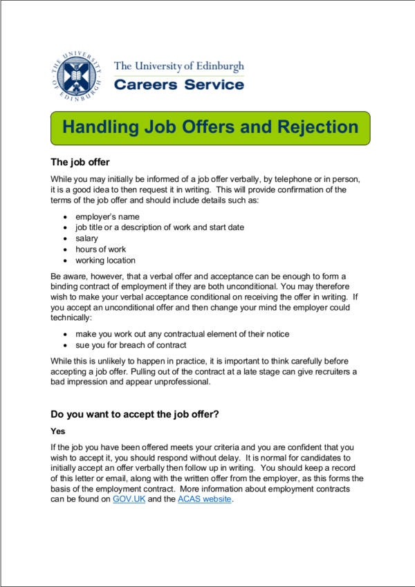 Politely Turning Down A Job Offer Image Titled Decline A Job