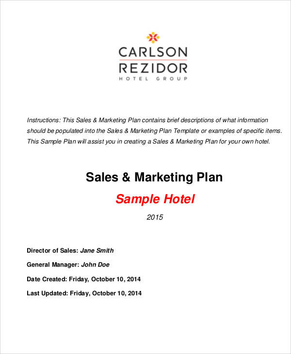 25 marketing plans in pdf sample templates for Sales and marketing plans templates