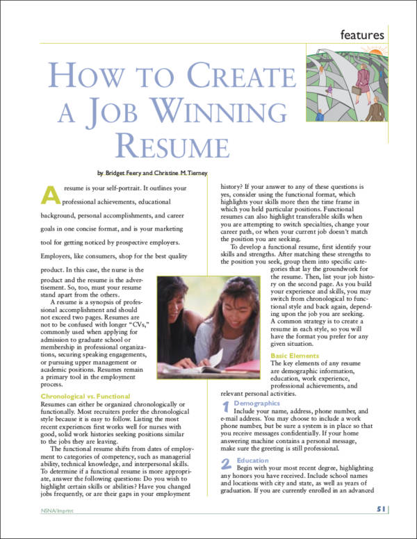 how to create a job winning resume