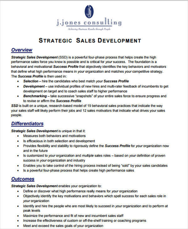 individual sales development