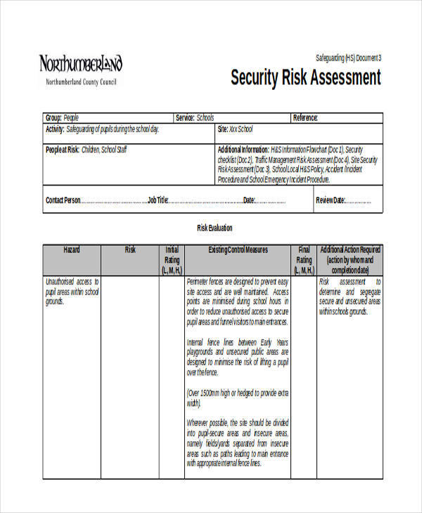 Security Assessment Template: Information Security Risk Assessment Form Pictures To Pin