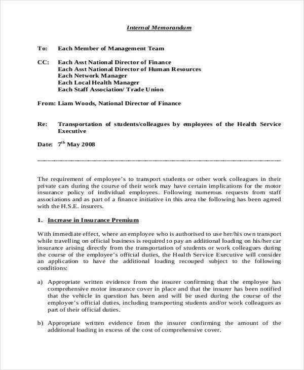 Internal-Management-Memo Tardiness Memo Letter Template on insubordination memo, technology memo, retirement memo, lateness memo,