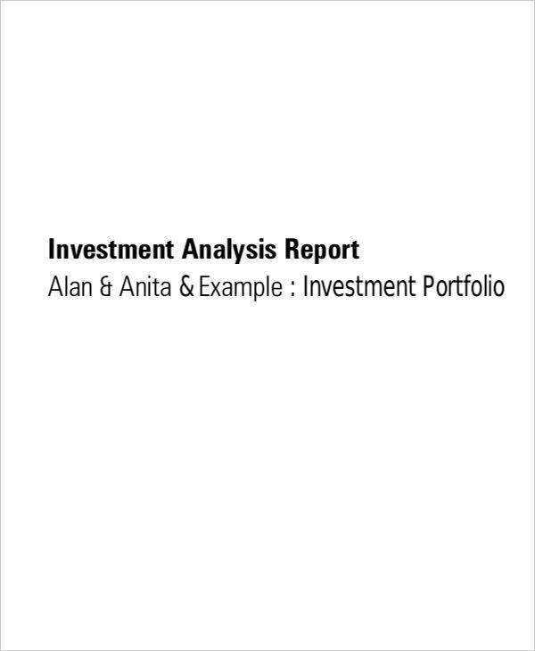investment report analysis1