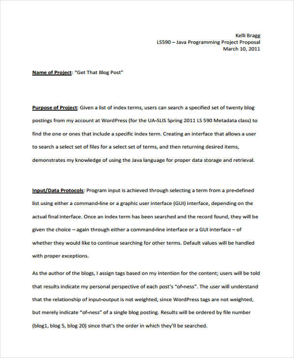 FREE 46+ Project Proposals In PDF