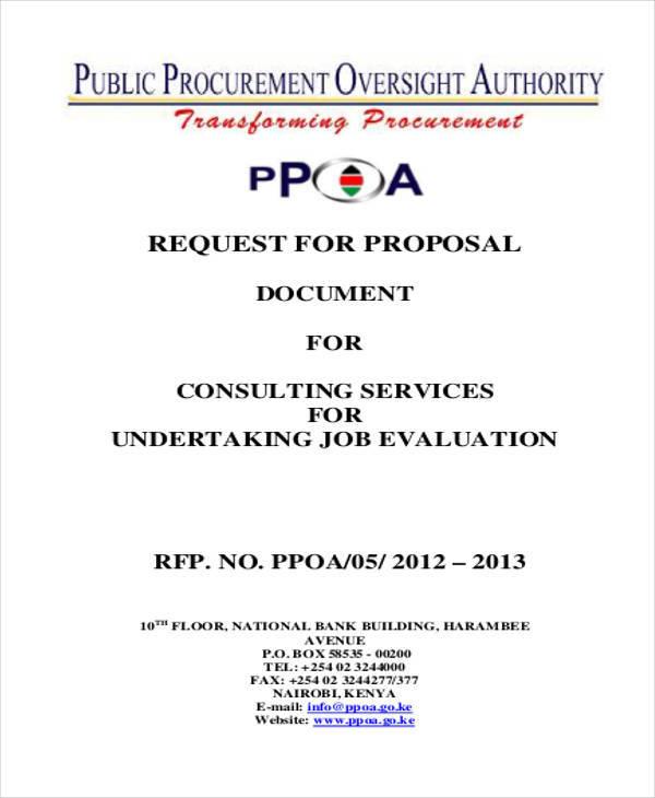 job consultancy proposal