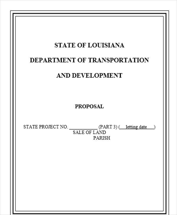 land sales proposal