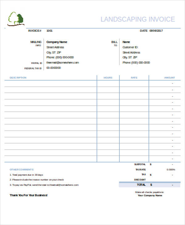 landscaping invoice1
