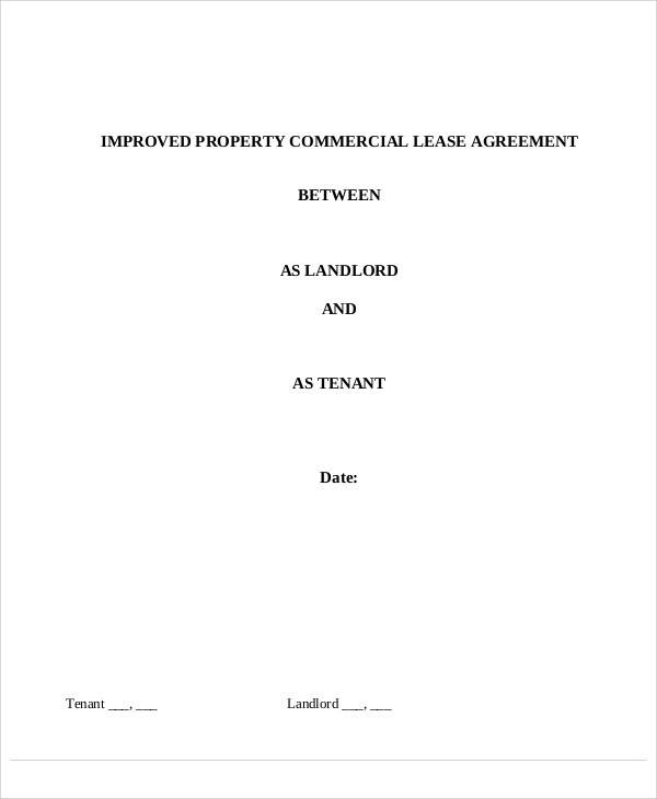 lease agreement for commercial property