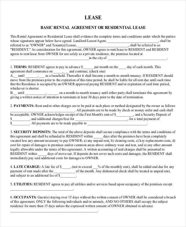 lease agreement for rental property1
