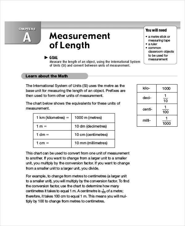 length measurement chart1