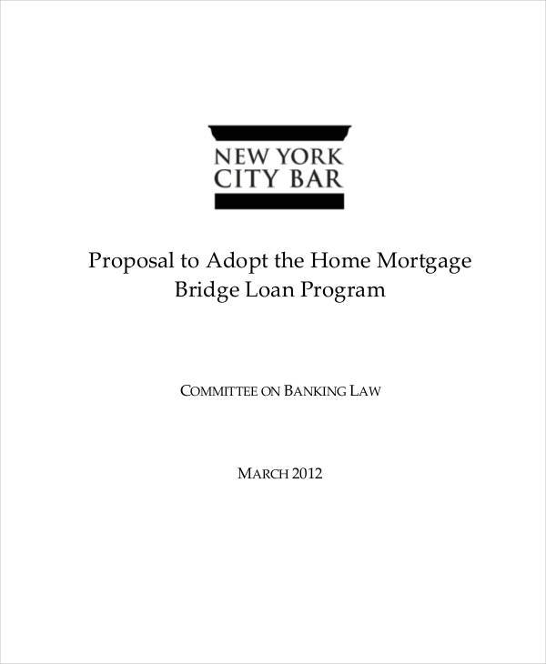 loan proposal for mortgage