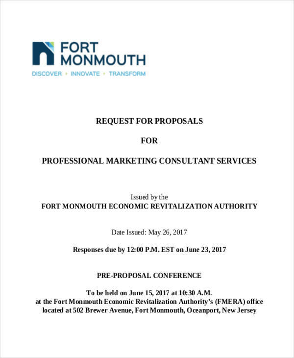 marketing consultant proposal