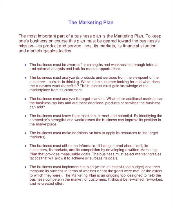 marketing work plan