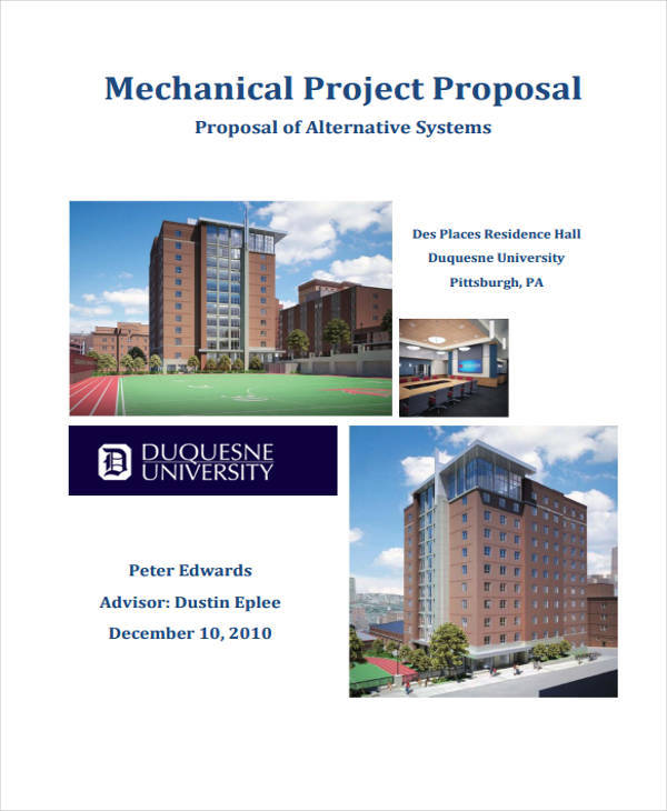 mechanical engineering project proposal