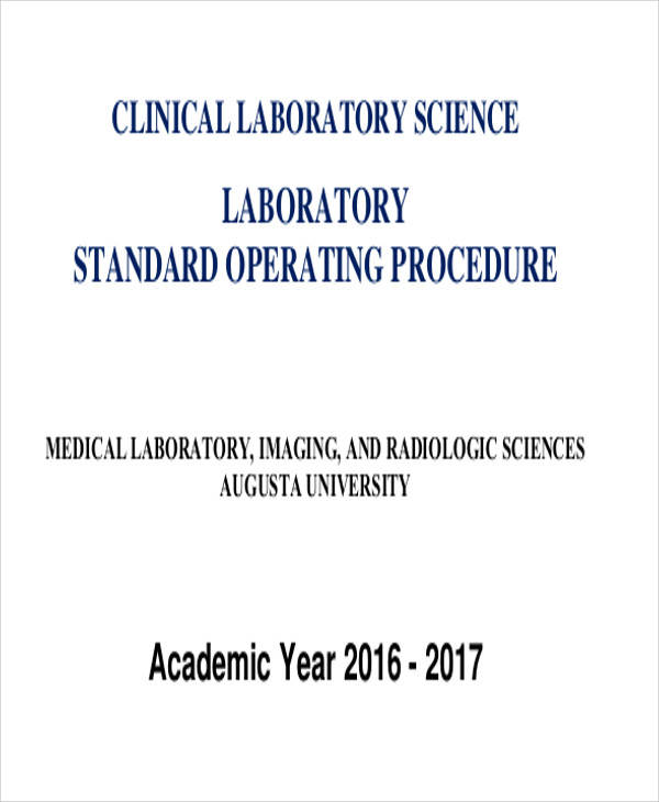 medical laboratory sop