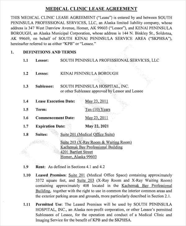 medical office lease agreement1
