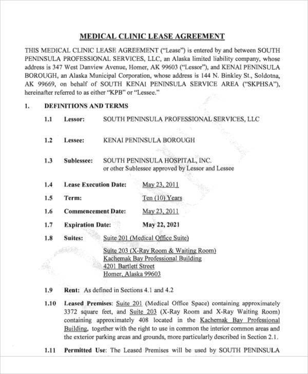 31  lease agreement samples