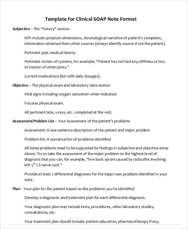 9 Medical Note Samples Examples In Word Pdf Sample Templates