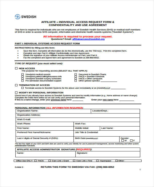Staff Confidentiality Agreements  Free Sample Example Format