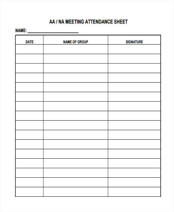 Attendance Sheet Templates  Free Sample Example Format Download