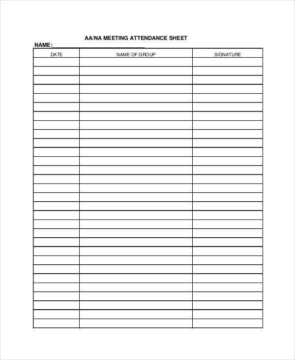 meeting attendance sheet1