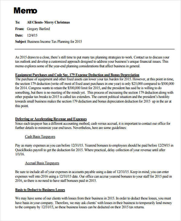 Business Memo Templates   Examples In Word Pdf
