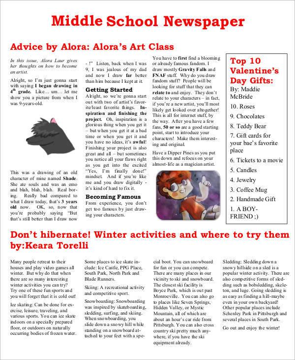 free 53  amazing newspaper templates in pdf