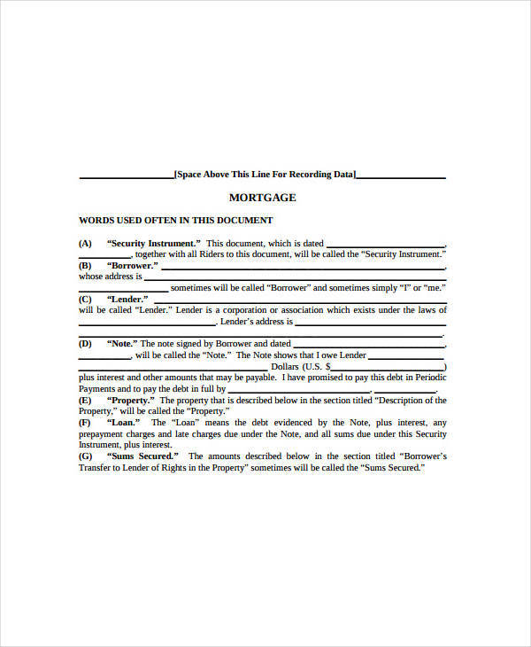 mortgage loan note1