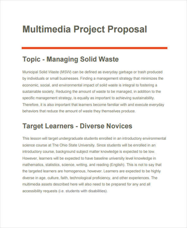 78+ Project Proposals in PDF | Sample Templates