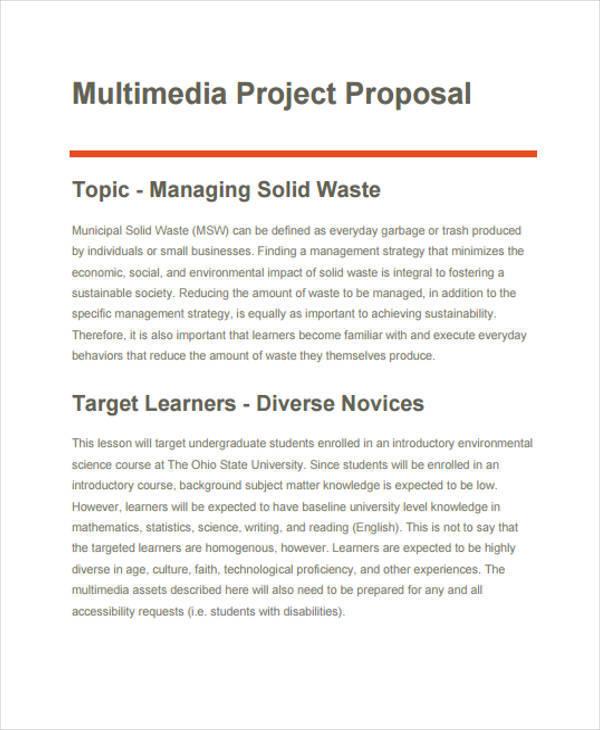 multimedia project proposal in pdf