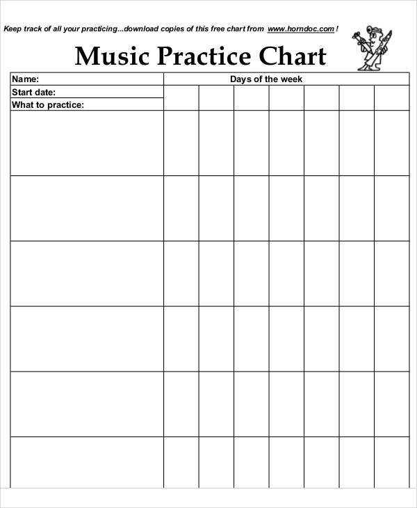 6 music chart free sample example format download for Song structure template