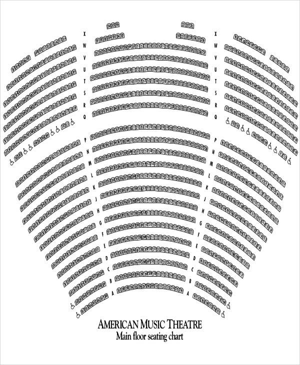 music seating chart sample