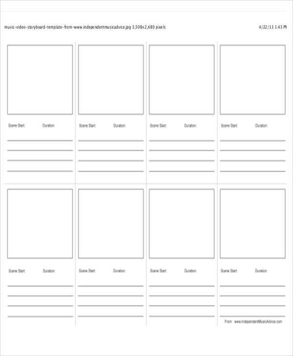 Video Storyboard Templates  Free Sample Example Format Download