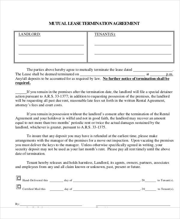 37 Lease Agreements In Pdf Sample Templates