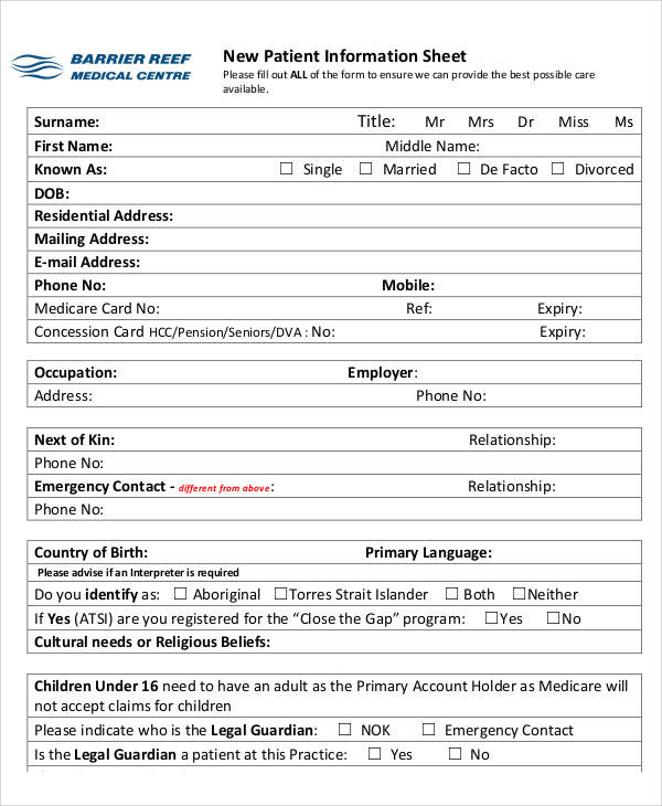 template for patient information sheet - 50 information sheet examples sample templates