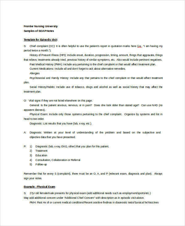 nursing soap notes examples - Kubre.euforic.co