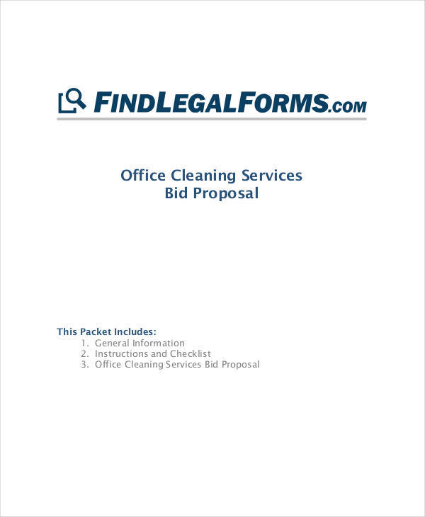 office cleaning bid proposal sample