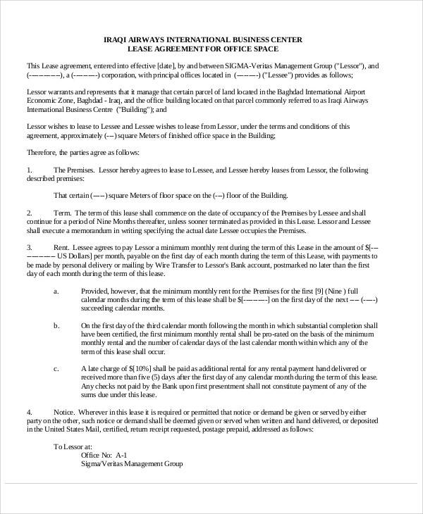 Lease Agreements In Pdf