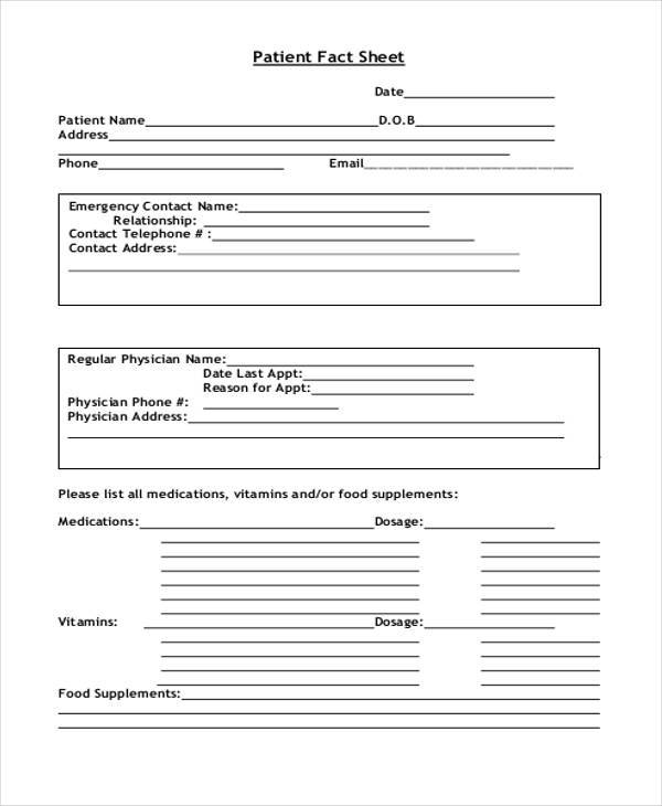 template for patient information sheet - 46 printable sheet samples templates sample templates