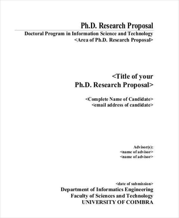 Phd proposals