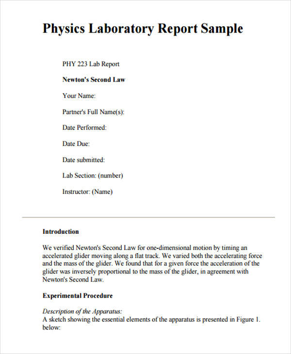 attrayant lab report sample sample lab dougherty mr science laboratory report .