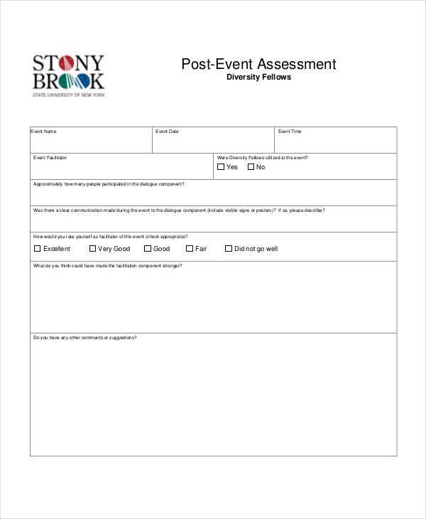 post event assessment