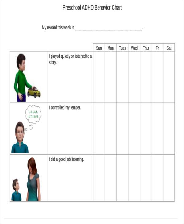 preschool behavior chart